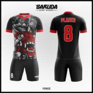 Desain Baju Futsal Full Print Motif Barongsai Yang Unik