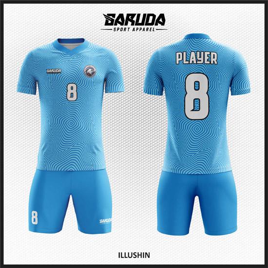 Desain Baju Bola Futsal Warna Biru Yang Unik Dan Keren