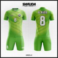 Desain Baju Futsal Full Print Gradasi Warna Hijau Yang Cool Banget