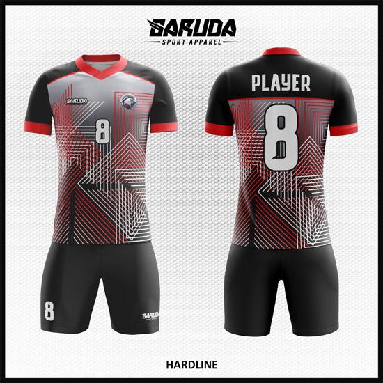 Desain Kostum Futsal Full Print Motif Garis Dinamis Yang Unik