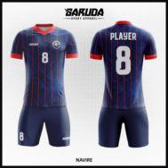Desain Jersey Bola Futsal Warna Biru Dongker Yang Mempesona