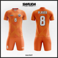 Desain Baju Bola Futsal Warna Orange Tampil Lebih Berkharisma