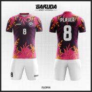 Desain Jersey Bola Futsal Warna Ungu Yang Anggun