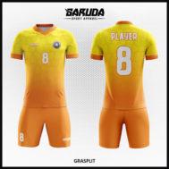 Desain Baju Futsal Printing Warna Kuning Bergaya Milienial