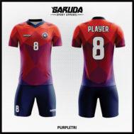 Desain Baju Futsal Full Print Motif Ornamen Segitiga Bergaya Modern Yang Unik