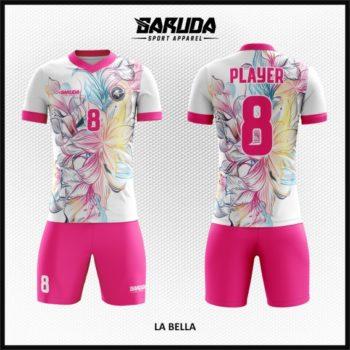 Desain Kaos Sepakbola Printing Motif Bunga Yang Anggun Mempesona