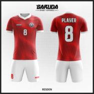 Desain Jersey Futsal Warna Merah Putih Semangat Perjuangan