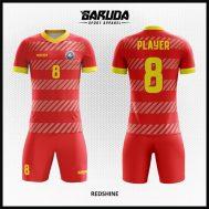Desain Jersey Futsal Printing Warna Merah Bikin Kamu Makin Gagah