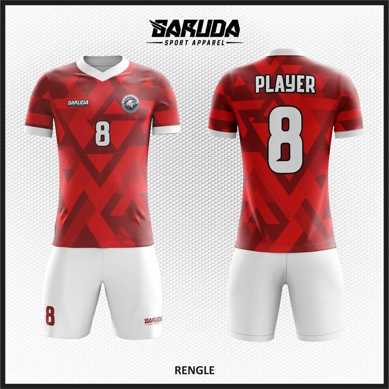 Desain Jersey Sepak Bola Full Print Merah Putih Yang Sangat Menawan