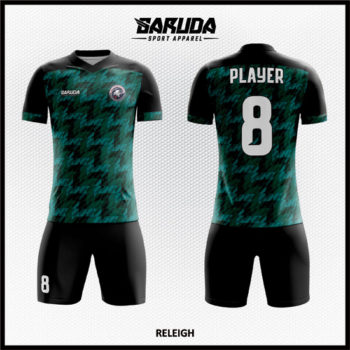 Desain Kaos Sepakbola Printing Warna Hijau Biru Hitam Paling Unik