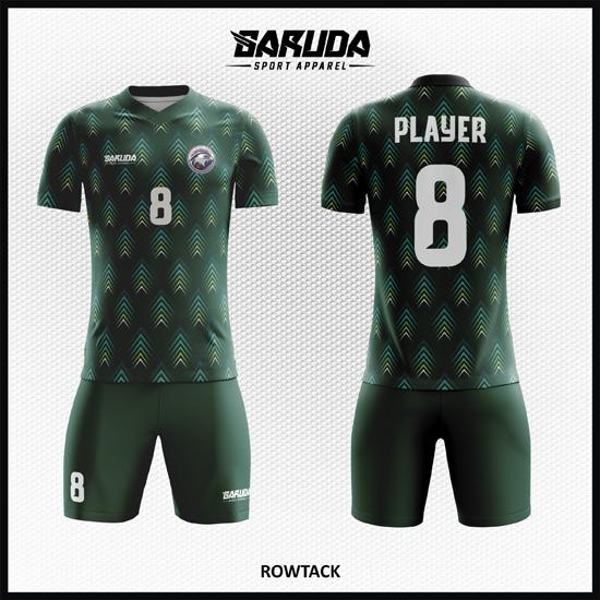 Desain Jersey Futsal Printing Warna Hijau Paling Keren