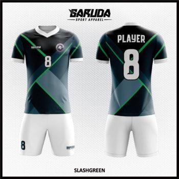Desain Jersey Sepak Bola Full Print Warna Hitam Abu-Abu Sangat Berkelas