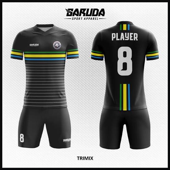 Desain Kaos Futsal Printing Warna Hitam Istimewa