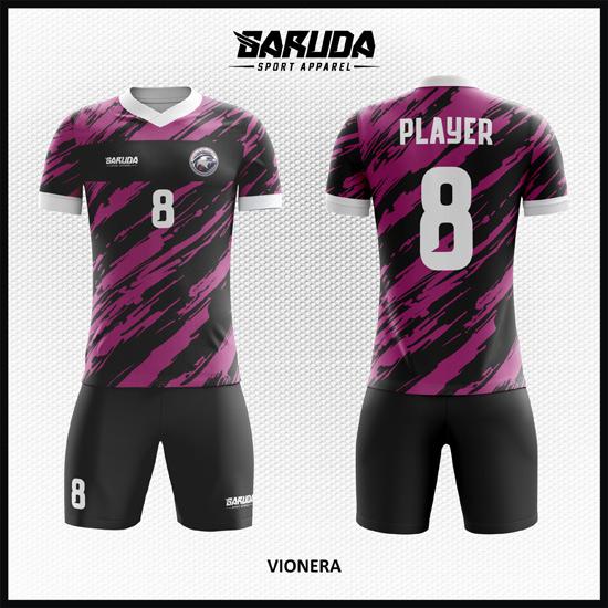 Desain Jersey Futsal Full Print Warna Ungu Hitam Siap Tampil Beda