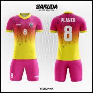 Desain Jersey Futsal Printing Warna Kuning Pink Yang Begitu Menggoda