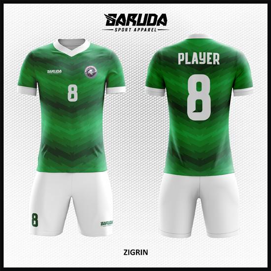 Desain Jersey Sepakbola Printing Warna Hijau Sangat Menawan