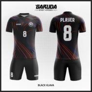 Desain Baju Futsal Printing Warna Hitam Paling Menawan