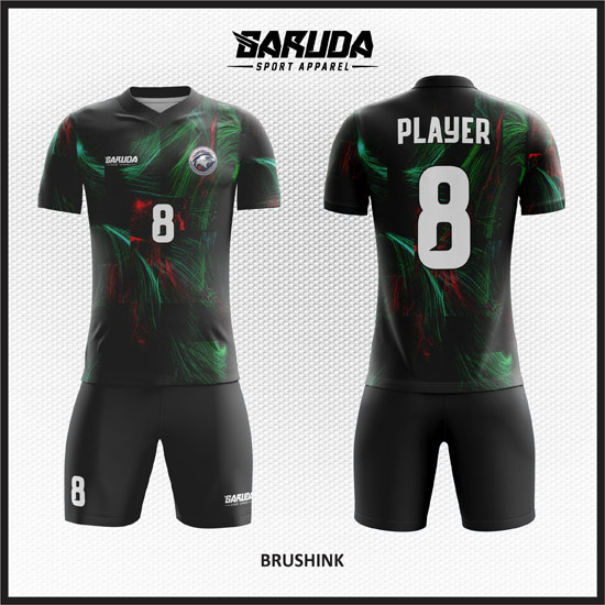 Desain Kaos Bola Futsal Printing Warna Hitam Yang Keren