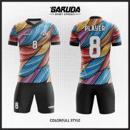 Desain Baju Futsal Printing Motif Bergelombang Yang Trendy