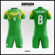 Desain Jersey Futsal Printing Warna Hijau Yang Trendy