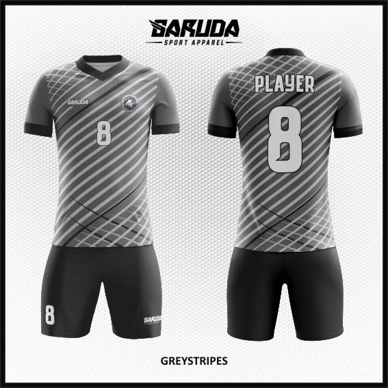 Desain Jersey Bola Futsal Warna Abu-Abu Paling Keren