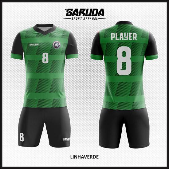 Desain Jersey Futsal Warna Hijau Hitam Tampil Lebih Trendy