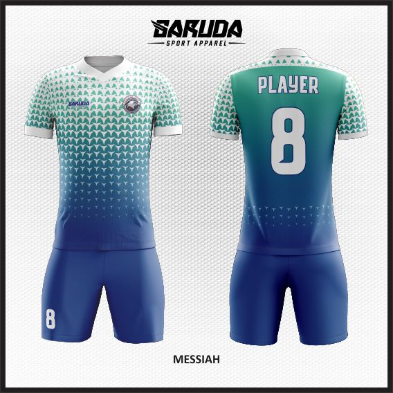 Desain Jersey Futsal Warna Putih Biru Yang Memukau
