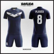 Desain Jersey Sepakbola Printing Warna Biru Dongker Minimalis
