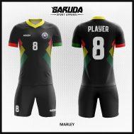 Desain Kaos Futsal Warna Hitam Simple Tapi Berkelas