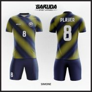 Desain Kaos Sepakbola Warna Biru Kuning Simple Tapi Berkelas