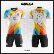 Desain Kostum Futsal Terbaru Motif Gradasi Warna Yang Keren