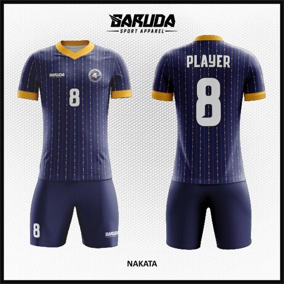 Desain Kostum Sepakbola Warna Biru Dongker Minimalis