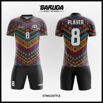 Desain Baju Futsal Motif Batik Etnik Modern Yang Keren