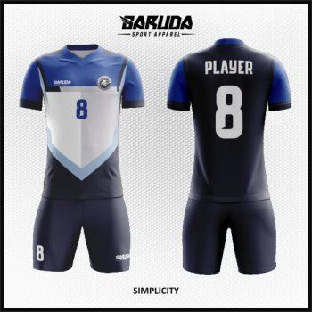 Desain Jersey Bola Warna Hitam Putih Biru Yang Gagah Dan Macho