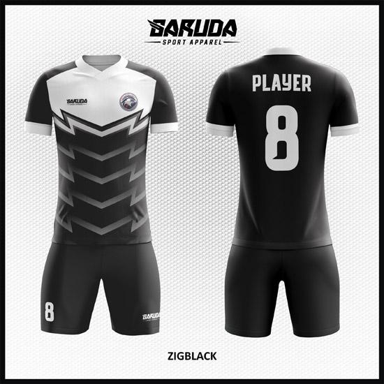 Desain Jersey Sepakbola Warna Hitam Putih Yang Elegant