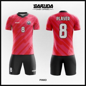 Desain Kaos Futsal Warna Pink Hitam Yang Keren Banget