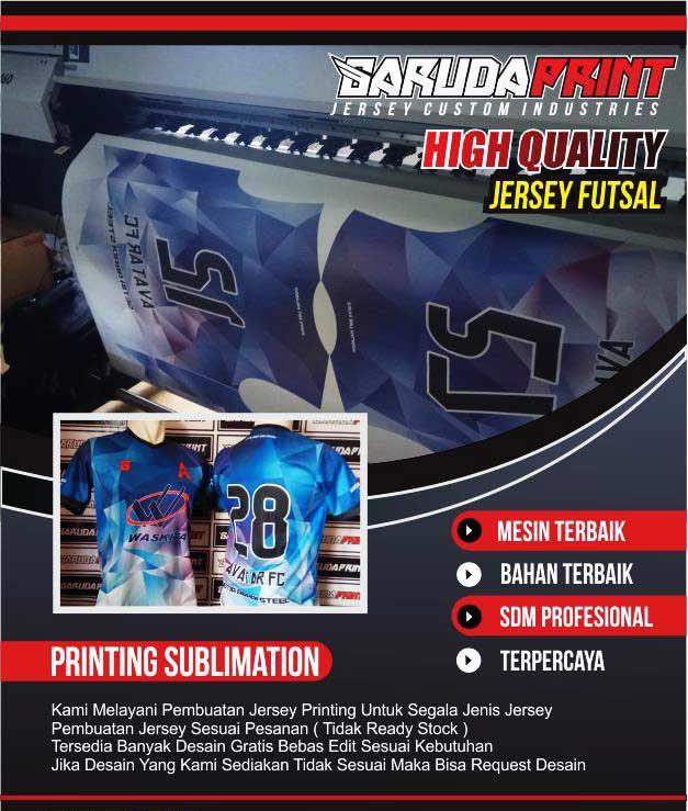 kaos futsal printing terbaik